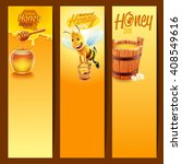 honey product with bee | Shutterstock .eps vector #408549616