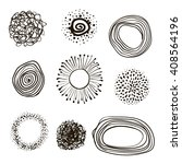 set of hand drawn circles ... | Shutterstock .eps vector #408564196