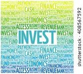 invest word cloud  business... | Shutterstock .eps vector #408567592