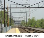 suburban train tracks | Shutterstock . vector #40857454