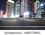 asphalt road and a city with... | Shutterstock . vector #408575842