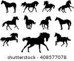 horse  drawing  black ... | Shutterstock .eps vector #408577078