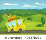summer vector nature landscape... | Shutterstock .eps vector #408578032