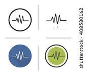cardiogram icon. flat design ... | Shutterstock .eps vector #408580162