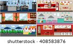 vector banner with restaurant... | Shutterstock .eps vector #408583876