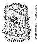 vector hand drawn vintage... | Shutterstock .eps vector #408590872
