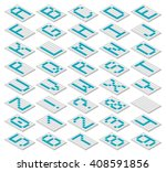 decorative monospaced font from ... | Shutterstock .eps vector #408591856