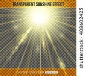 sunshine effect over... | Shutterstock .eps vector #408602425