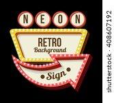 3d vintage street sign  retro... | Shutterstock . vector #408607192