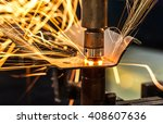 spot welding industrial...   Shutterstock . vector #408607636