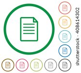 set of document color round...