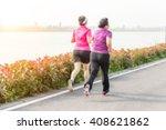 runners in marathon  abstract... | Shutterstock . vector #408621862
