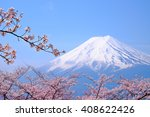 mt fuji and cherry blossom  in... | Shutterstock . vector #408622426