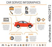 car service infographics with... | Shutterstock .eps vector #408622972