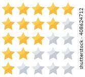 stars rating isolated on white... | Shutterstock .eps vector #408624712
