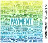 payment word cloud  business... | Shutterstock .eps vector #408630172