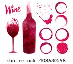 illustration of glass and... | Shutterstock .eps vector #408630598