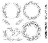 vector wreaths clip art. hand... | Shutterstock .eps vector #408644626