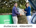 a mid adult couple recycling... | Shutterstock . vector #408645895