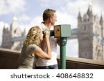 a middle aged couple using a... | Shutterstock . vector #408648832