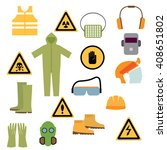 set of tools  signs and... | Shutterstock .eps vector #408651802