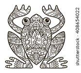vector  contour illustration ... | Shutterstock .eps vector #408654022