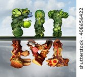 eating lifestyle change concept ... | Shutterstock . vector #408656422