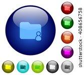 set of color folder owner glass ...