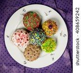 multicolored bright sweet... | Shutterstock . vector #408659242