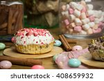 celebrating plate with... | Shutterstock . vector #408659932