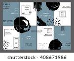 trendy minimal cards design...   Shutterstock .eps vector #408671986
