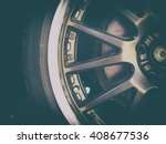 alloy car wheel closeup. modern ... | Shutterstock . vector #408677536