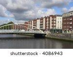 Dublin, the capital of Ireland. - stock photo
