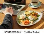 business breakfast. cropped...   Shutterstock . vector #408695662
