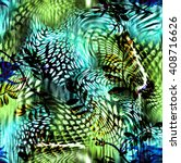 leopard rounds silk scarf...   Shutterstock . vector #408716626