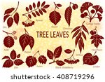 set of nature pictograms  tree... | Shutterstock .eps vector #408719296