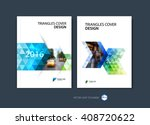 set of abstract business... | Shutterstock .eps vector #408720622