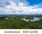aerial shot of amazon... | Shutterstock . vector #408722248