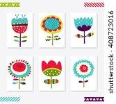 set of cute creative card... | Shutterstock .eps vector #408723016