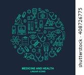 vector medicine and health...   Shutterstock .eps vector #408726775