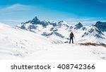 thinking mountain snow   Shutterstock . vector #408742366