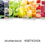 photo of colorful mix stripes... | Shutterstock . vector #408742456