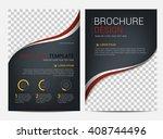 brochure template flyer design...   Shutterstock .eps vector #408744496