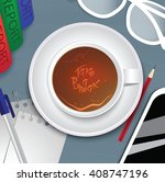vector illustration with office ... | Shutterstock .eps vector #408747196