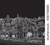 prague town  czech republic.... | Shutterstock . vector #408748885