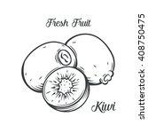 hand drawn kiwi. decorative...   Shutterstock .eps vector #408750475