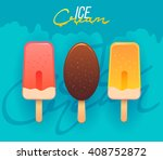 ice cream vector icon.... | Shutterstock .eps vector #408752872