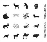 animal  bird 16 black simple... | Shutterstock . vector #408768556