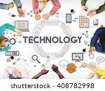 technology future digital media ... | Shutterstock . vector #408782998
