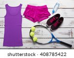 tank top with sport shorts....   Shutterstock . vector #408785422